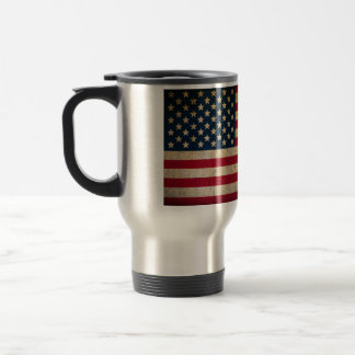 Vintage American Flag Stainless Steel Travel Mug