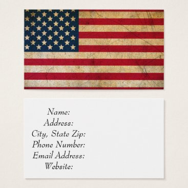 USA Themed Vintage American Flag Standard Size Business Card