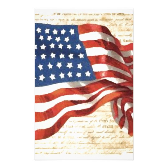 Vintage American Flag Stationery