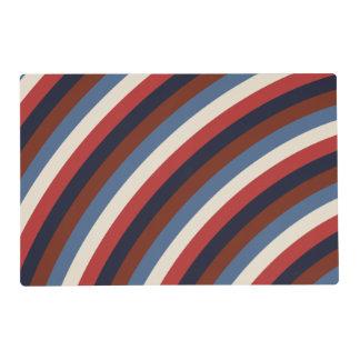 Vintage American Flag Stripes Placemat