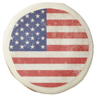 Vintage American Flag Sugar Cookie