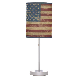 Vintage American Flag Table Lamps
