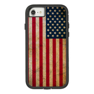 Vintage American Flag Tough Xtreme iPhone 7 Case
