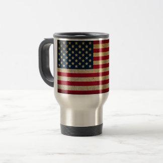 Vintage American Flag Travel Commuter Mug