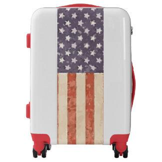 Vintage American Flag Ugobag Carry on Luggage