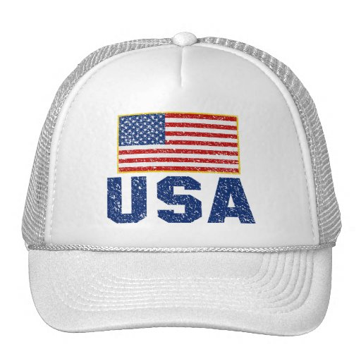 Vintage American Flag USA Trucker Hat