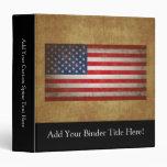 Vintage American Flag w/Custom Text Binders