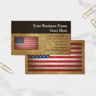 Military business cards 2500 military business card templates vintage american flag wcustom text business card colourmoves