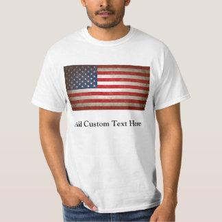 Vintage American Flag w/Custom Text T-Shirt