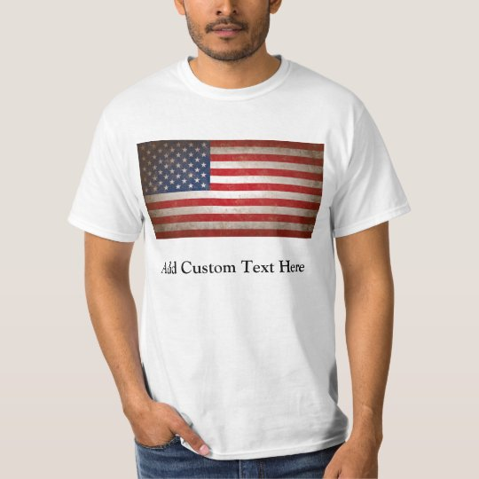 Vintage American Flag w/Custom Text T-Shirt