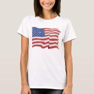Vintage American Flag W T-Shirt