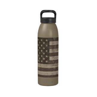 Vintage American Flag Water Bottle