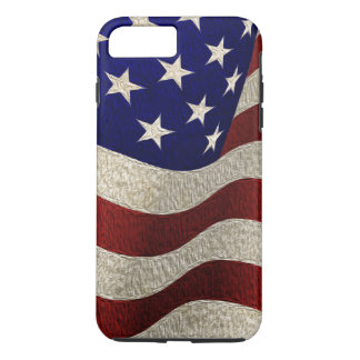 Vintage American Flag with Grunge Texture iPhone 8 Plus/7 Plus Case