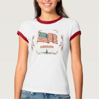 Vintage American Flag Women's Shirt