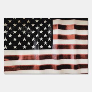 Vintage American Flag Yard Signs