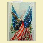 Vintage American Flags Card