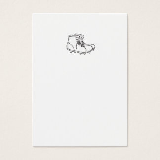 Vintage American Football Boots Drawing Business Card