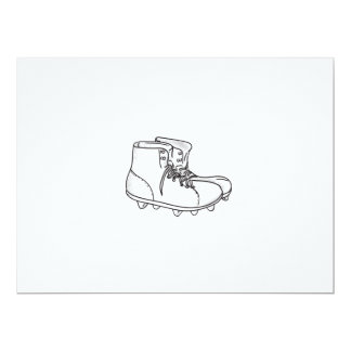 Vintage American Football Boots Drawing Card