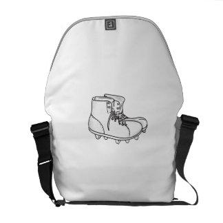 Vintage American Football Boots Drawing Messenger Bag