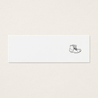 Vintage American Football Boots Drawing Mini Business Card
