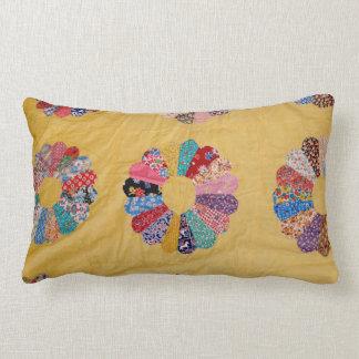Vintage American Handmade Quilt design Throw Pillow