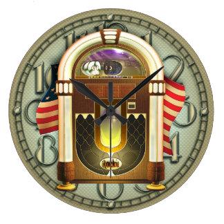 Vintage American Jukebox Wall Clock