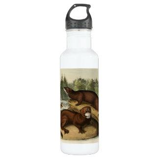 Vintage American Minks Stainless Steel Water Bottle