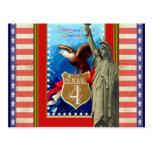 Vintage American patriotic illustration Post Cards