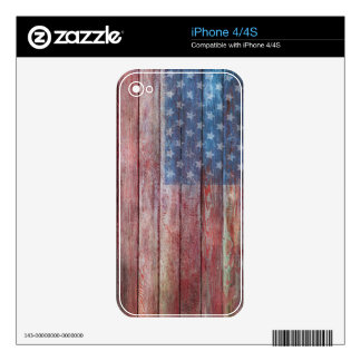 Vintage American Pride Decal For The iPhone 4
