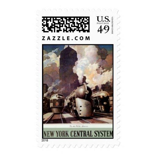 Vintage American Railway, USA - Postage
