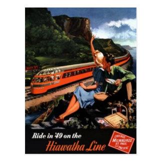 Vintage American Railway, USA - Postcard