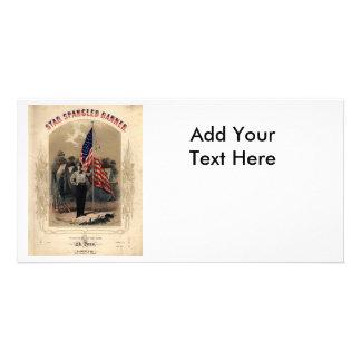 Vintage American Soldier and U.S. Flag Card