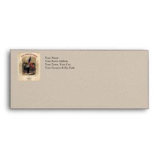Vintage American Soldier and U.S. Flag Envelope