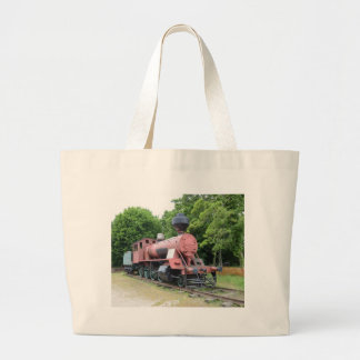 Vintage American Steam Locomotive Large Tote Bag