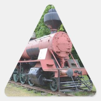 Vintage American Steam Locomotive Triangle Sticker