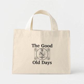 Vintage American Television Test Pattern Mini Tote Bag