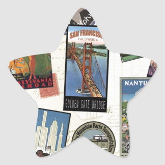 Vintage American Travel collage Stickers