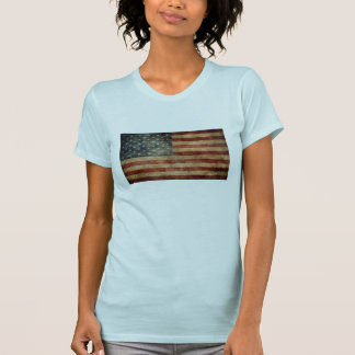 vintage American USA flag women's t-shirt design