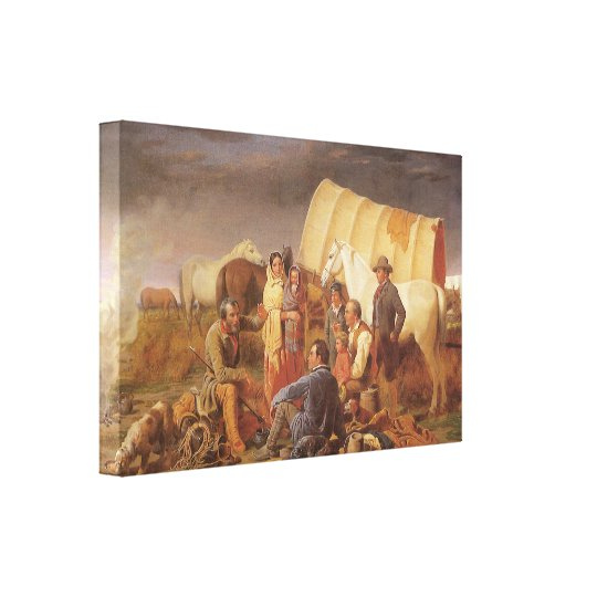 Vintage American West, Advice on Prairie by Ranney Canvas Print