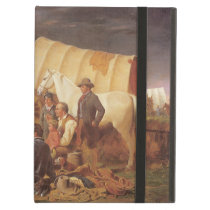 Vintage American West, Advice on Prairie by Ranney iPad Air Cover