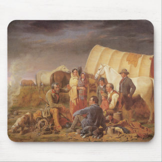 Vintage American West, Advice on Prairie by Ranney Mouse Pad
