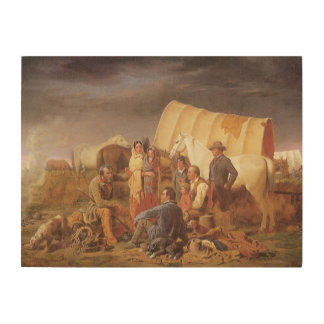 Vintage American West, Advice on Prairie by Ranney Wood Wall Art
