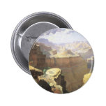 Vintage American West Art, Grand Canyon by Leigh 2 Inch Round Button