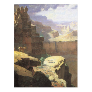 Vintage American West Art, Grand Canyon by Leigh Postcard