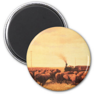 Vintage American West, Held Up by NH Trotter 2 Inch Round Magnet