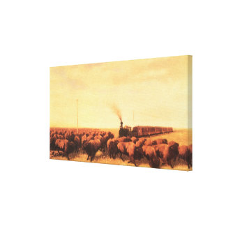 Vintage American West, Held Up by NH Trotter Canvas Print