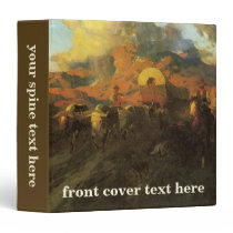 Vintage American West, Overland Trail by Johnson 3 Ring Binder