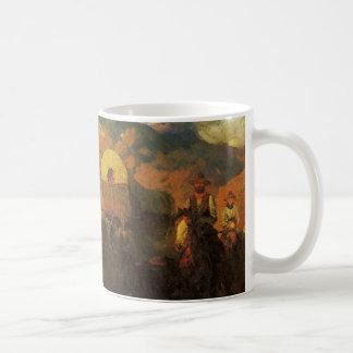 Vintage American West, Overland Trail by Johnson Coffee Mug