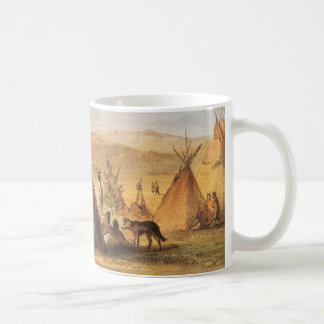 Vintage American West, Teepees on Plain by Bodmer Coffee Mug