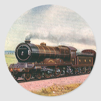 Vintage American West, Train in Western Frontier Classic Round Sticker